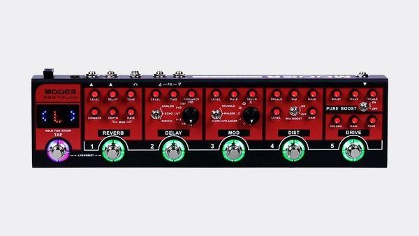 Pedaleira para Guitarra Mooer Cpt 1 Red Truck Ctp-1