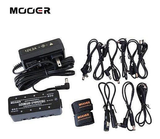 FONTE MOOER MICRO POWER 8 SAIDAS 9v DC ISOLADAS P/PEDAL MPW1
