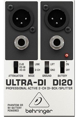 Direct Box Behringer DI-20 Ativo 2 Canais Ultra-di Di20