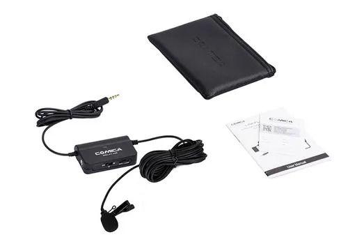 Microfone lapela c/ interface Comica SIG.LAV V05UC p/ANDROID