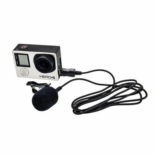Microfone lapela Comica Cvm-V01Cp p/ Gopro Hero - cabo 2.5M