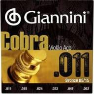 "ENCORDOAMENTO P/ VIOLAO GIANNINI VIOLAO BRONZE 85/15 0.011"" GEEFLK"
