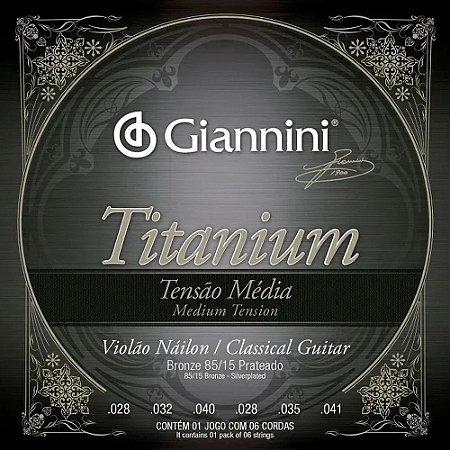 ENCORDOAMENTO VIOLAO GIANNINI TITANIUN 85/15 PRATEADO GENWTM