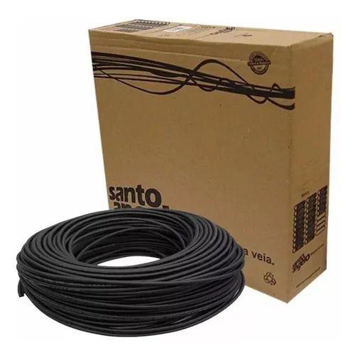 CABO SANTO ANGELO EM ROLO DE MICROFONE 0,30MM MOD X30 PRETO