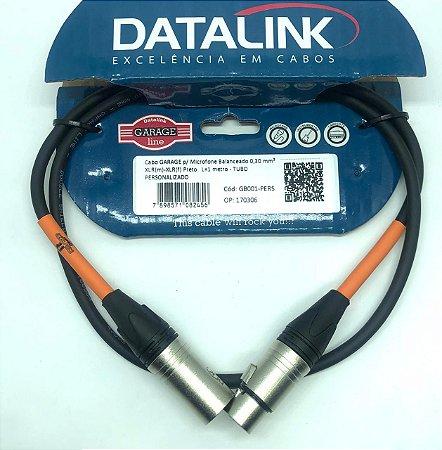 CABO DATALINK GARAGE p/ Microfone Balanceado 0,30 mm 1m