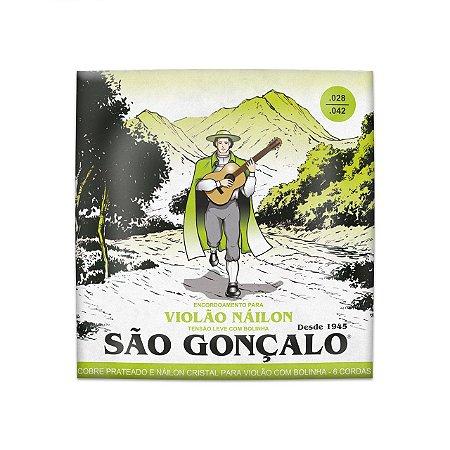 ENCORDOAMENTO SAO GONCALO VIOLAO NYLON CRISTAL TENSAO LEVE