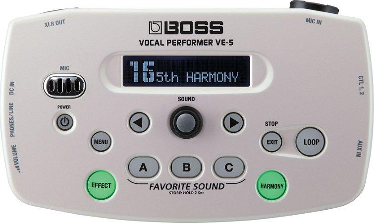 Pedal Boss Vocal Ve5 Processor Para Voz Ve-5 Branco