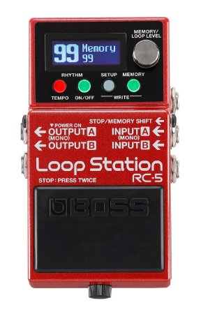 Pedal Boss Loop para Guitarra RC-5 Station Avacados