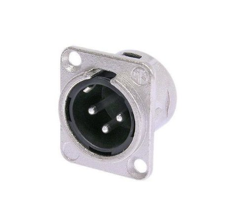 Conector Neutrik XLR Macho Painel NC3MD-L-1