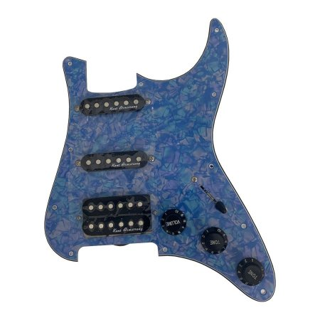 Escudo Condor Azul Claro p/ Guitarra c/ Captador Preto HSS