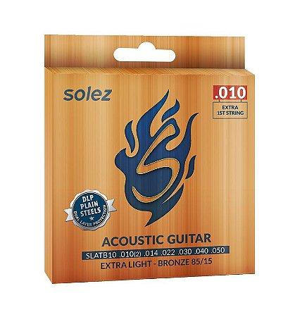 Encordoamento Corda Solez para Violão Bronze 010 SLATB10