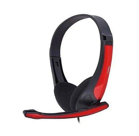 Fone De Ouvido Headset Gamer Targa Ph 250 Preto E Vermelho