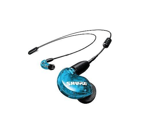 Fone de Ouvido Shure in-ear com microdriver SE215 Azul