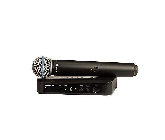 Microfone Shure Sistema S/fio Blx24/Beta58 Bastao B58 Br J10