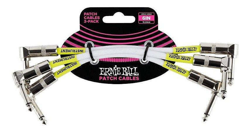 Cabo Pedal Ernie Ball Plug L/L Pack com 3 pcs P06051 15,24cm