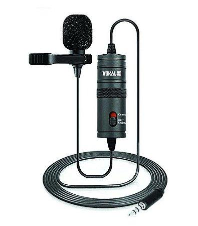 Microfone Vokal Lapela Slm10 Para Celular com Fio
