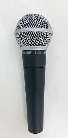Microfone Shure Dinamico Cardióide SM58-LC MOSTRUÁRIO