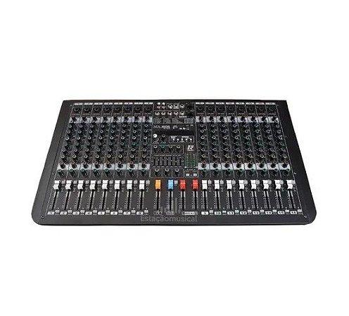Mesa De Som Staner 16 Canais Stereo Analógica MX1606 FX-R