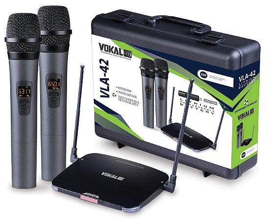 Microfones Sem Fios Vokal Vla-42 Preto VOKAL