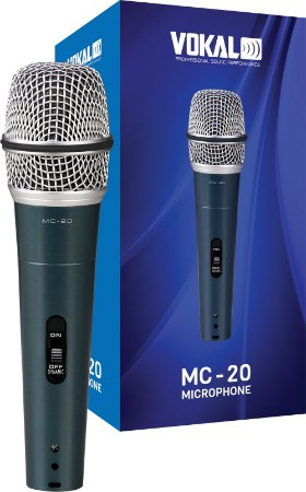 Microfone Vokal Mc20 Com Fio - PRETO