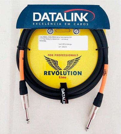 Cabo Datalink Revolution Premiun P10 Rean Preto RI053 3 m