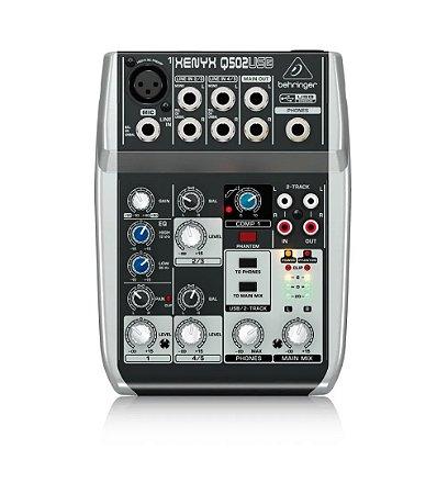Mesa de Som Behringer Mixer Xenyx Q502USB