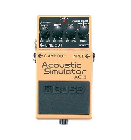 Pedal Boss para Guitarra Acoustic Simulator AC-3