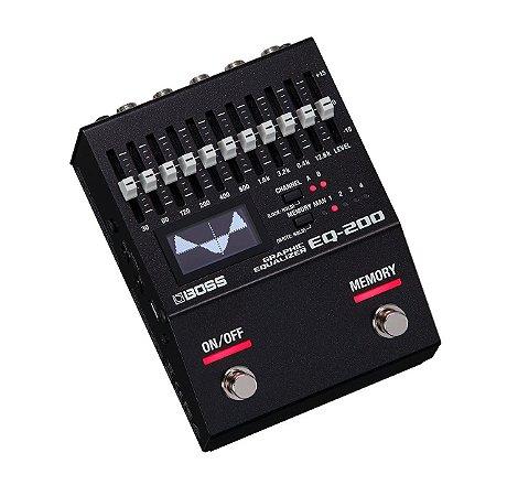 Pedal Boss para Guitarra Equalizador Gráfico EQ-200