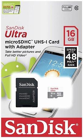 Cartão de Memória SanDisk 16Gb Ultra