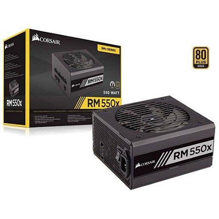Fonte Atx Rm550x 550w Modular 80plus Gold