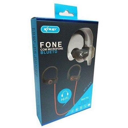 Fone Ouvido Bluetooth Microfone Esporte KNUP KP-443