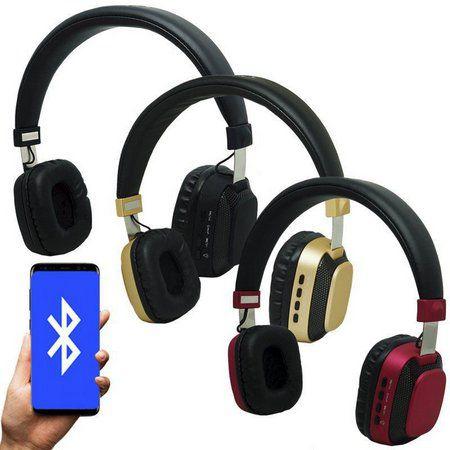 Fone Ouvido Bluetooth Led Moderno Estéreo P2 Infokit HBT-240