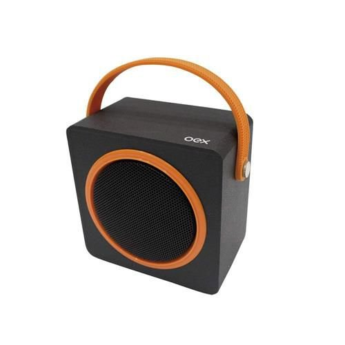 Caixa de Som Bluetooth 10W RMS Speaker Color Box Preto e Laranja SK404 – OEX