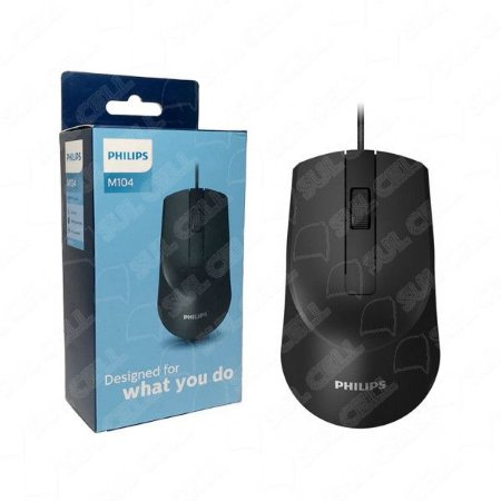 Mouse Optico c/ Fio Philips - M104