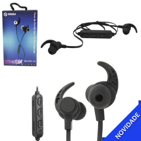 Fone de Ouvido Esportivo Intra-Auricular Bluetooth - Shinka - SH-FO-14