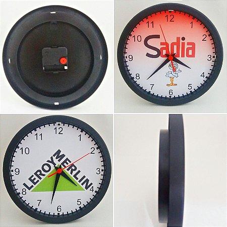 Kit C/ 10 Relógios de Parede + 100 Chaveiros - Personalizados com a MARCA de sua Empresa