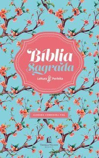 Bíblia ACF, Capa flexível, Floral, Leitura Perfeita