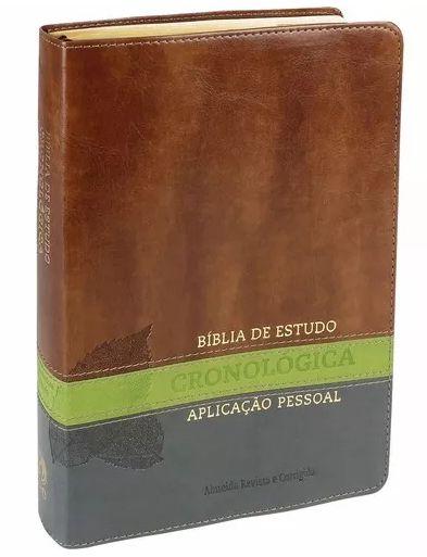 BÍBLIA DE ESTUDO CRONOLÓGICA APLICAÇÃO PESSOAL TARJA VERDE