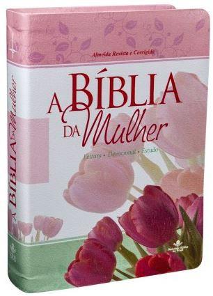A BÍBLIA DA MULHER - Rosa (Revista e Corrigida)