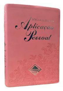 BÍBLIA DE ESTUDO APLICAÇÃO PESSOAL MÉDIA ROSA