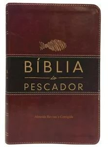 Bíblia Do Pescador - Grande - Vinho - Marrom Escuro - Luxo (Revista e Corrigida)