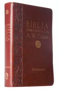 BÍBLIA A. W. TOZER LUXO COM ANOTAÇÕES - MÉDIA - VINHO (Revista e Corrigida)