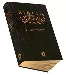 BÍBLIA OBREIRO APROVADO MÉDIA LUXO PRETA