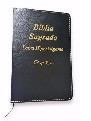 Bíblia Sagrada Letra Hiper Gigante Luxo - Preta