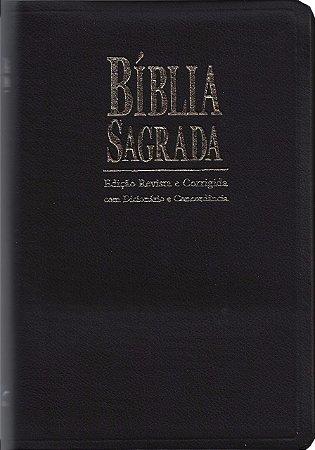 Bíblia Sagrada com Dicionário e Concordância - ICM - Ed. Revista e Corrigida - Capa Preta
