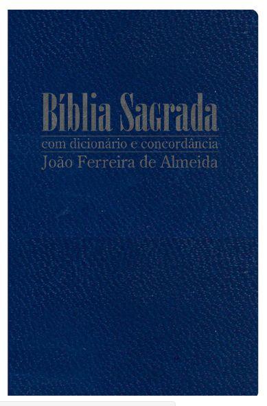 Bíblia Sagrada RC Gigante com Dicionário e Concordância - Capa Luxo Azul