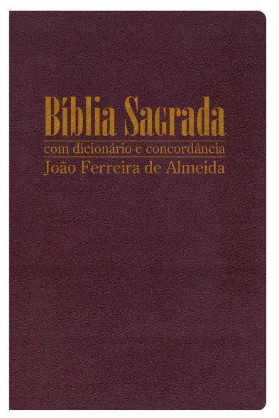 Bíblia Sagrada RC Gigante com Dicionário e Concordância - Capa Luxo Vinho