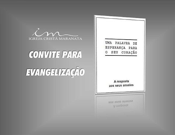 Folheto de Evangelização ICM - Uma Palavra de Esperança