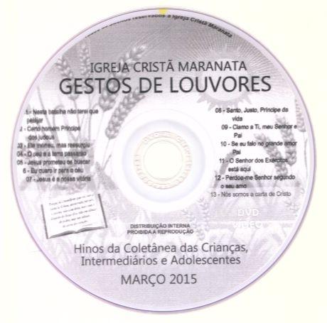 DVD Gestos de Louvores - 2015