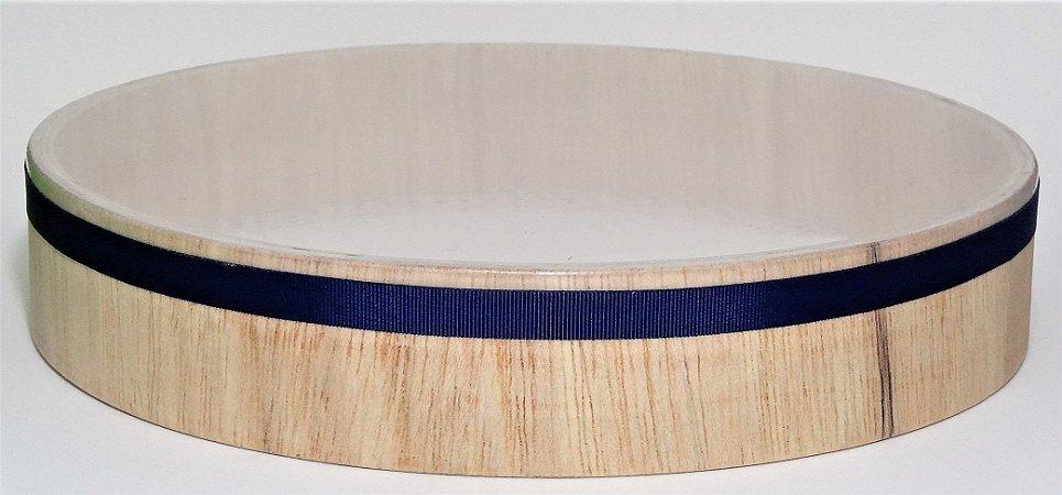 Pandeiro sem platinela - 25cm - Madeira - Pele de PVC transparente - Super Leve - P5249